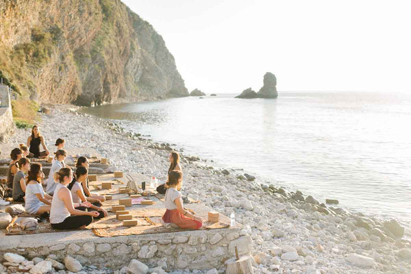 Beach Yoga Retreat session - Mahakala Center Montenegro
