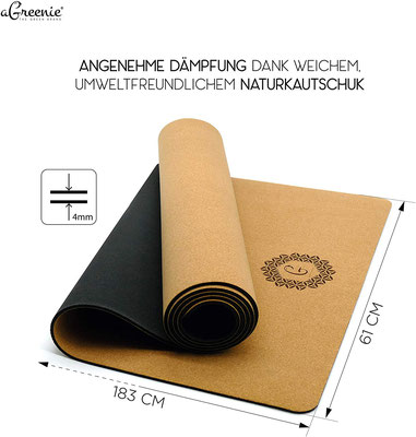 Empfehlung - Premium Eco Yogamatte Tasche Set Kork