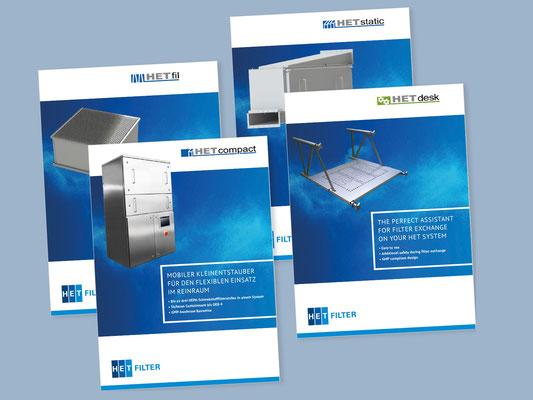 HET Produktbroschüren / Mühlhausen Marketing und Kommunikation
