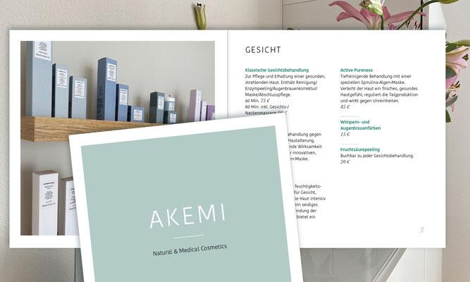 Logo, Visitenkarte, Flyer, Preisliste / AKEMI