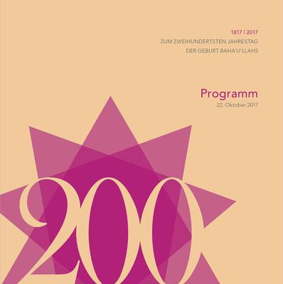 Programm Festakt Bahai Gemeinde München