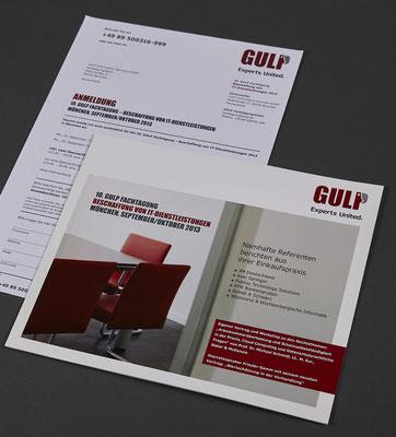 GULP Einladung und Antwortfax / nakami lounge