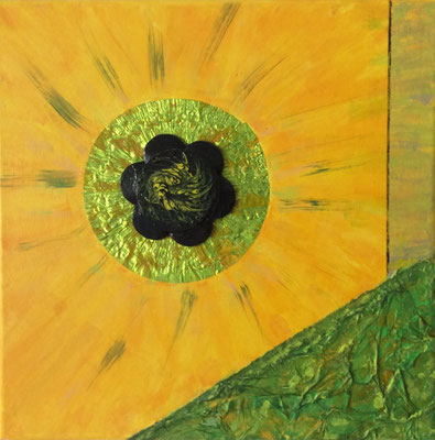 Trilogie gelb, 30x30 cm