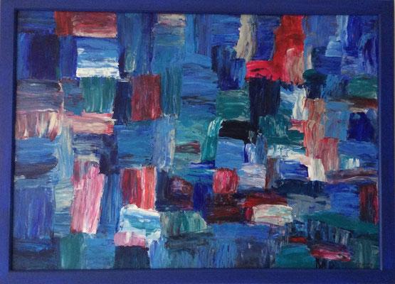 Farbe trifft Spachtel, 74x54