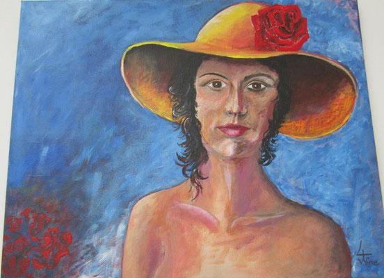 Frau mit Hintergrund