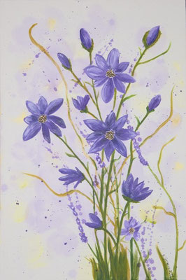 Frühlingsfantasie in lila, 40x60 cm