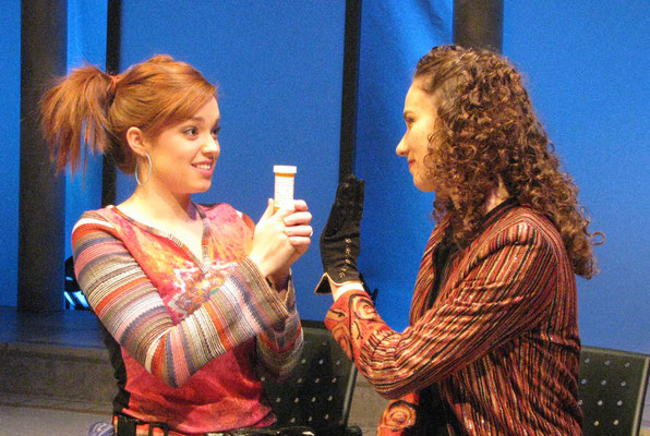 "Britney Adams and Victoria Halper in ""String of Pearls"" (Directed by: Ralph Small; Theatre Erindale, Canada. 2010)"