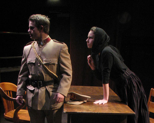 "Darren Turner and Victoria Halper in ""Widows"" (Directed by: Bill Lane; Theatre Erindale, Mississauga, Canada. 2009)"