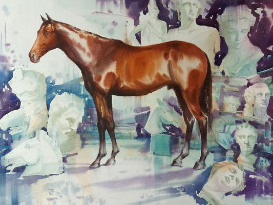Client in the studio, watercolor, 73x53cm