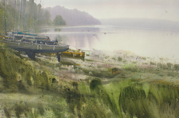 Silence II, watercolor, 35x53cm