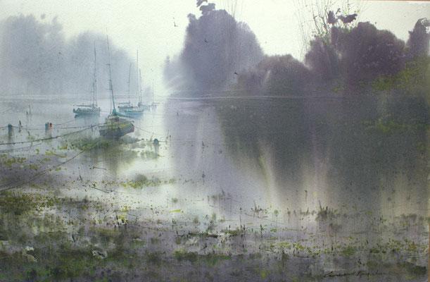 Fog, watercolor, 37x53cm