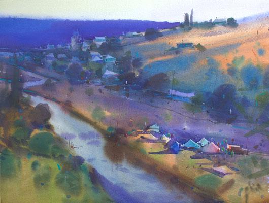 Tribujeni, watercolor, 40x56cm