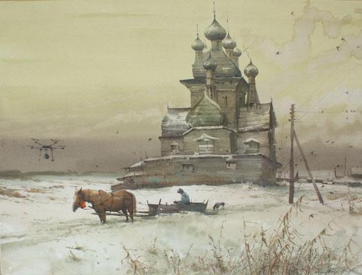 The rise of Civilization, watercolor , 73x53cm