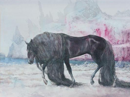 Fortuna, watercolor, 73x52cm