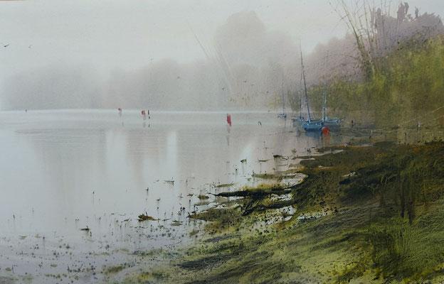 Low tide IV, watercolor, 35x53cm