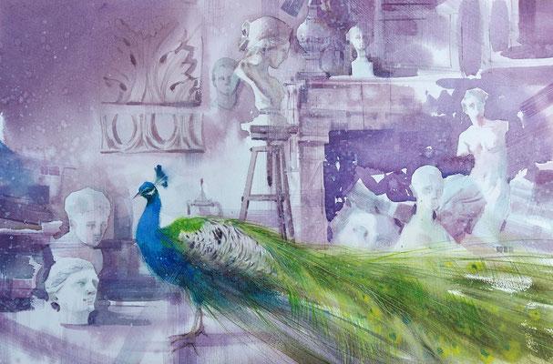 Illusion, watercolor, 35x53cm