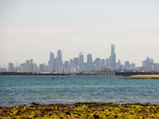 Blick von Brighton auf Melbourne