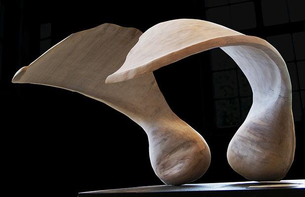 Schöpferischer Funke, Skulptur aus Holz / sculpture, wood