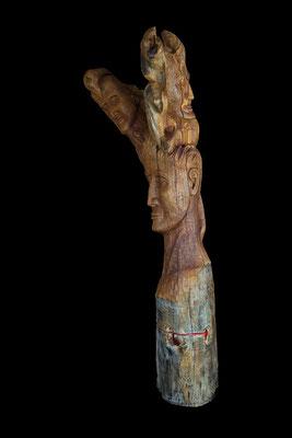 2011 Troika, Skulptur aus Holz / sculpture, wood