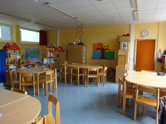 Das ist einer von vier Gruppenräumen der OGS.