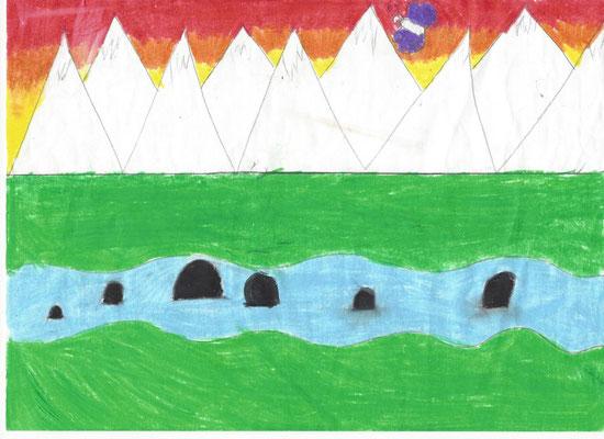 Malwettbewerb: Elyana von den Bären hat bei den 9-jährigen gewonnen.