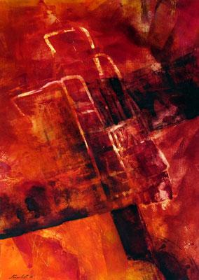 Rot, 50 x 90 cm, Acryl/Malkarton