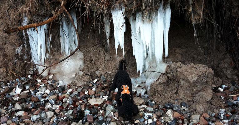 Eine Tropfsteinhöhle am Strand?