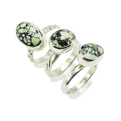Barnacle rings. Sterling Silver, Damele.