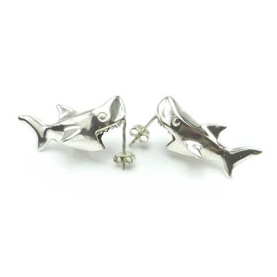 Shark Attack! Sterling Silver.