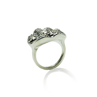 Reef Ring. Sterling Silver with a sprinkling of Diamonds.