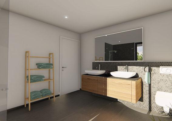 Mehrfamilienhaus Mümliswil Badezimmer - S&S Totalunternehmung AG Ihr Partner für Gesamtleistungen