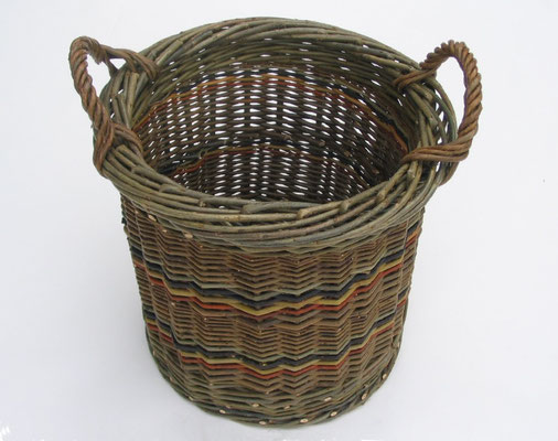 Connemara Turf Basket with colour stripe