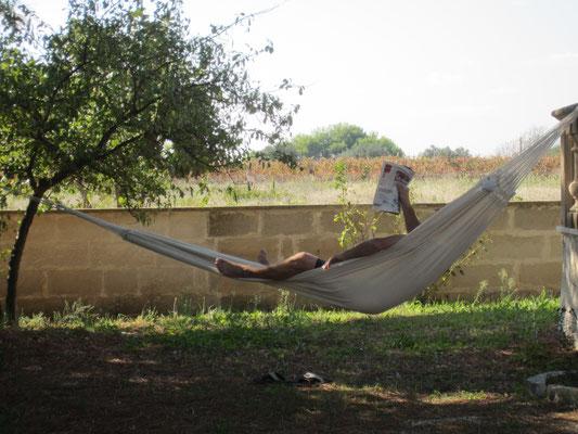 im Schatten relaxen