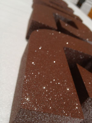 Styrodur® (XPS) mit Acryllack seidenmatt inkl. Glittereffekt