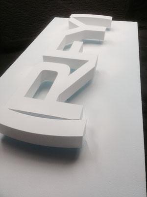 Styrodur® (XPS) gefüllert mit Acryllack seidenmatt