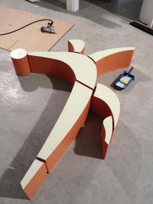 Styropor® (EPS) geschliffen mit Acryllack seidenmatt