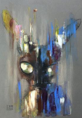 Kira, 42 x 59,4 cm, Mixmedia