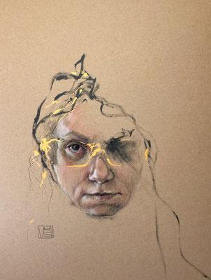 Im goldenen Licht, 30 x 40 cm, Mischtechnik