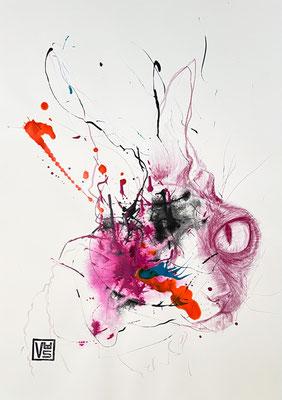 Metamorphose 4, 42 x 59,4 cm, Mischtechnik