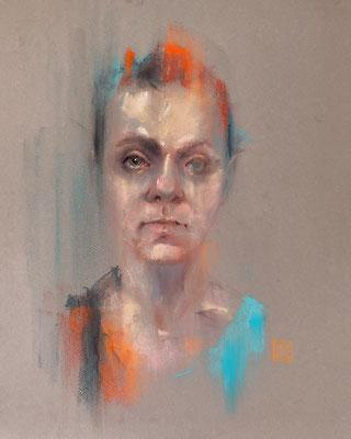 Selbstportrait, 30 x 40 cm, Pastell