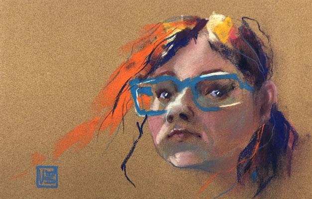 Ohne Titel, 15,5 x 24 cm, Pastell (verkauft)