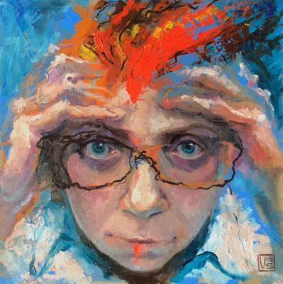 Bilder in meinem Kopf, 40 x 40 cm, Öl auf Platte