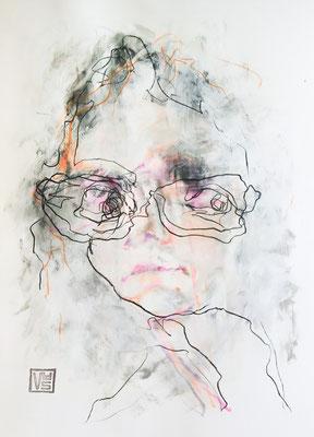 Bink Tears, 42 x 59,4 cm, Mischtechnik