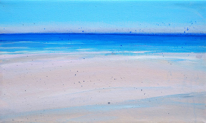 Dansk sommer 3 acryl on canvas  18 cm / 30 cm