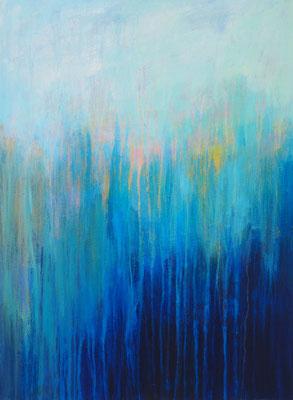 ocean's movement  acryl on canvas  80 cm / 60 cm