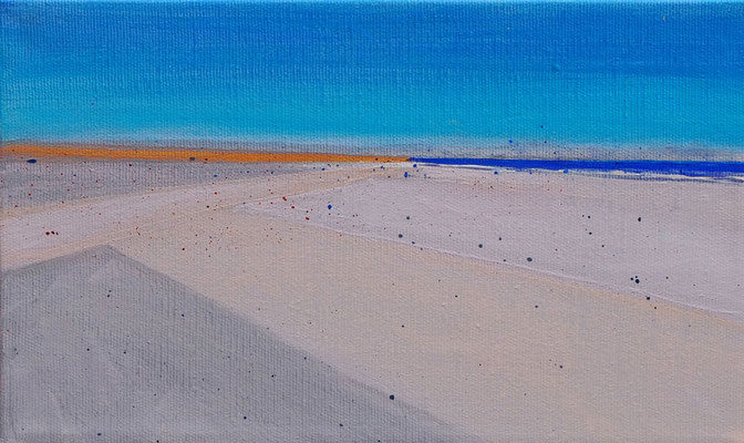 Dansk sommer 1  acryl on canvas  18 cm / 30 cm