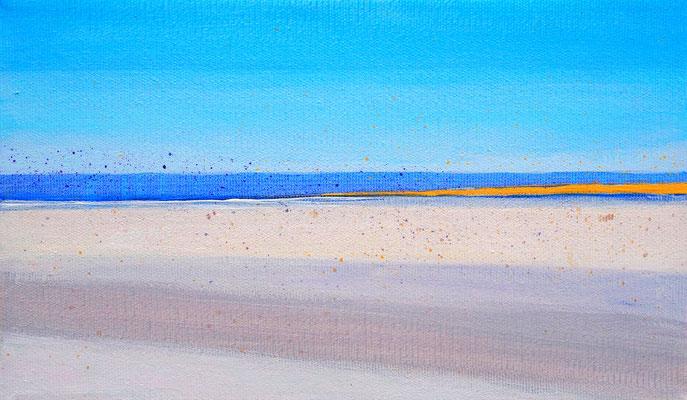 Dansk sommer 6  acryl on canvas  18 cm / 30 cm