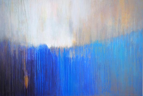 ocean's gold  acryl on canvas  95 cm / 140 cm