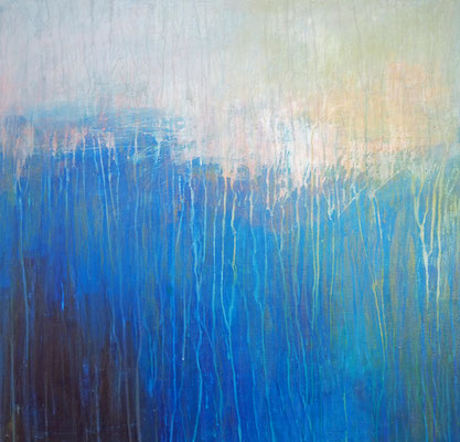 ocean's brightness  acryl on canvas  80 cm / 80 cm