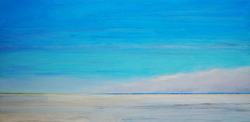 Grenen summer clouds acryl on canvas  30 cm / 60 cm